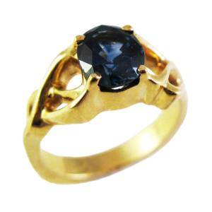 14k yellow gold<span>1.10ct oval Montana sapphire</span>