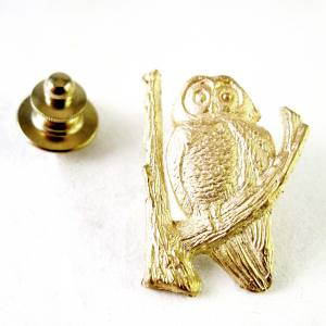 14k yellow gold spotted owl, proceeds benefit Benton Forest Coalition<span>$200</span>