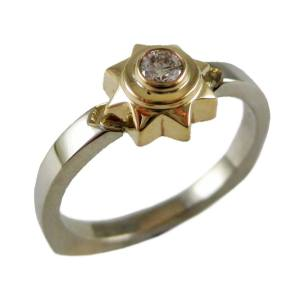 14k white/yellow gold sun<span>0.12ct</span>