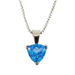 14k white gold with blue topaz<span>6.83ct</span>