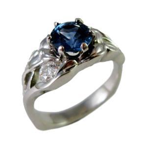 Platinum trillium<span>$3775 - 1.51ct sapphire, 0.40ct tw diamonds</span>