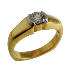 18k yellow gold and platinum<span>0.38ct</span>