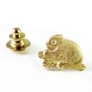 14k yellow gold red tree vole, proceeds benefit Cascadia Wildland Project<span>$100</span>